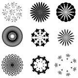 Insieme dei disegni circolari illustrazione di stock