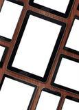 Insieme dei dispositivi digitali dei modelli in bianco Fotografia Stock
