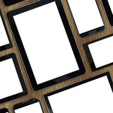 Insieme dei dispositivi digitali dei modelli in bianco Fotografie Stock