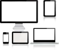 Insieme dei dispositivi digitali moderni realistici illustrazione di stock