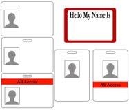 Insieme dei distintivi di identificazione Fotografia Stock Libera da Diritti