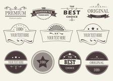 Insieme dei distintivi e delle etichette Fotografie Stock Libere da Diritti