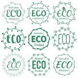 Insieme dei distintivi/etichette di Eco Fotografie Stock Libere da Diritti