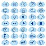 Insieme dei distintivi, icone per un sito Fotografia Stock