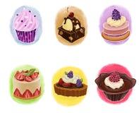 Insieme dei dolci illustrazione di stock