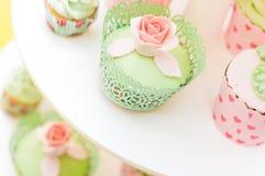 Insieme dei dolci casalinghi deliziosi Fotografia Stock