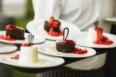 Insieme dei dolci e dei dessert Fotografia Stock