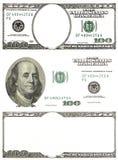 Insieme dei dollari originali del dettaglio isolati su fondo bianco Fotografie Stock Libere da Diritti