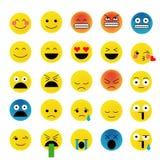 Insieme dei emoticons Fotografia Stock Libera da Diritti