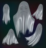 Insieme dei fantasmi isolati su fondo Immagine Stock