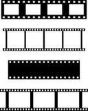 Insieme dei filmstrips Fotografie Stock