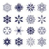 Insieme dei fiocchi di neve royalty illustrazione gratis