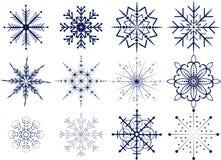 Insieme dei fiocchi di neve Immagine Stock Libera da Diritti