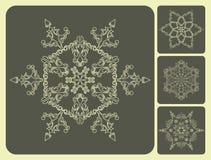Insieme dei fiocchi di neve del modello. Illustrazione Vettoriale