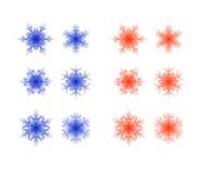 Insieme dei fiocchi di neve di cristallo illustrazione di stock