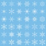 Insieme dei fiocchi di neve di vettore Fotografia Stock