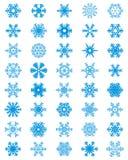 Insieme dei fiocchi di neve differenti Immagini Stock Libere da Diritti