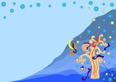 Insieme dei fiocchi di neve di vettore, illustrazione illustrazione vettoriale