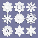 Insieme dei fiori di carta di origami Fotografia Stock