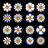 Insieme dei fiori di vettore Fotografia Stock