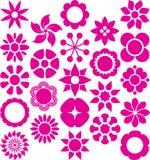 Insieme dei fiori ized Fotografia Stock Libera da Diritti