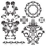 Insieme dei fiori ornamentali per progettazione Illustrazione Vettoriale