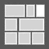 Insieme dei francobolli in bianco Illustrazione di vettore Fotografia Stock Libera da Diritti