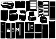 Insieme dei frigoriferi differenti royalty illustrazione gratis