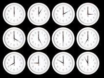 Insieme dei fronti di orologio Immagini Stock Libere da Diritti