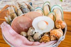 Insieme dei frutti di mare Fotografia Stock Libera da Diritti