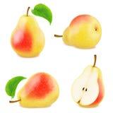 Insieme dei frutti rossi della pera Fotografie Stock Libere da Diritti