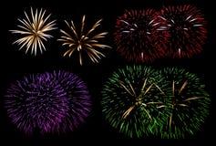 Insieme dei fuochi d'artificio Immagine Stock Libera da Diritti