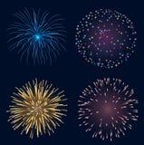 Insieme dei fuochi d'artificio Immagine Stock