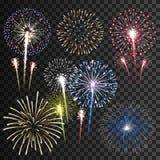 Insieme dei fuochi d'artificio di vettore fotografie stock libere da diritti