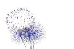 Insieme dei fuochi d'artificio isolati sul contesto bianco Immagini Stock Libere da Diritti