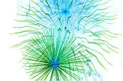 Insieme dei fuochi d'artificio isolati sul contesto bianco Fotografie Stock