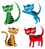 Insieme dei gatti fotografia stock libera da diritti