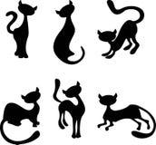 Insieme dei gatti illustrazione vettoriale