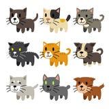 Insieme dei gatti del fumetto Immagini Stock Libere da Diritti