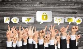 Insieme dei gesti e delle icone di mano Immagini Stock Libere da Diritti
