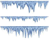 Insieme dei ghiaccioli d'attaccatura di scongelamento di una tonalità blu royalty illustrazione gratis