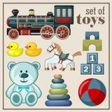 Insieme dei giocattoli d'annata Immagini Stock Libere da Diritti