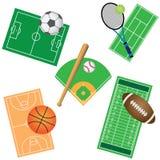 Insieme dei giochi di sport. Fotografia Stock