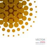 Insieme dei giri astratti di progettazione di giallo di vettore Fotografia Stock