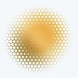 Insieme dei giri astratti di progettazione di giallo di vettore Fotografie Stock