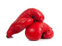 Insieme dei guanti di inscatolamento rossi fotografia stock libera da diritti