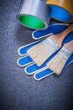 Insieme dei guanti di sicurezza dei pennelli del nastro della famiglia Fotografia Stock
