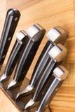 Insieme dei knifes della cucina Immagini Stock Libere da Diritti