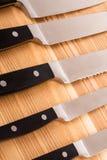 Insieme dei knifes della cucina Fotografie Stock
