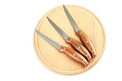 Insieme dei knifes della cucina Fotografie Stock Libere da Diritti